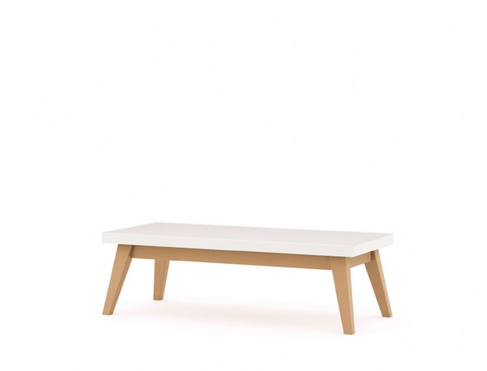 Pledge Me, Myself And I Rectangle Bistro/Breakout Wooden Table With White Table Top